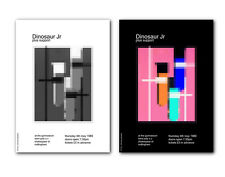 ❤ Dinosaur Jr = 1989 ❤ a pair of modernist poster art prints in 3 size options