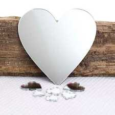 Heart Wall Mirror for Bedroom Bathroom Kitchen Living Room & Sticky Pads