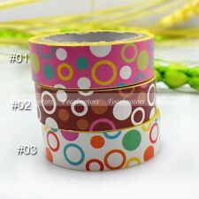 Decorative Craft Paper PVC Tape DIY Making Sticker Chromatic Color Circle  Dot