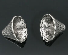 Wholesale HOT! Jewelry Silver Tone Cone Caps Findings Fit 12mm-22mm Beads