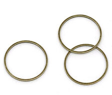 Wholesale HOT! Jewelry Bronze Tone Closed Jump Rings Findings 20mm Dia.