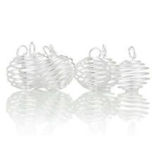Wholesale HOT! Jewelry Silver Plated Spiral Bead Cages Pendants Findings