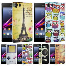 Silicone Gel Rubber Grip Case Cover for Mobile Phone Sony Xperia Z1 + Film