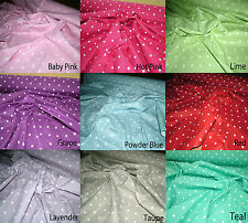 POLKA DOT Cotton Lifestyle Fabric 10mm Spot Craft Curtain CGF Lots of Colours