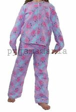 Girls Winter Cotton Flannel 2pc Pyjamas Pjs Lilac Moshi Monsters sz 3,4,5,6,7,8