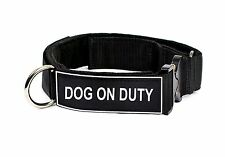 "D&T ""Cobra"" Patch Dog Collar Dog On Duty"