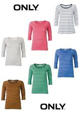 Only T-Shirt Mega Stripe 3/4 Top Gr. S, M, L 6 Farben NEU