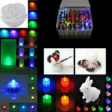 LED Color Changing Night Light Candle Lamp Wedding Party Home Room Flash Decor