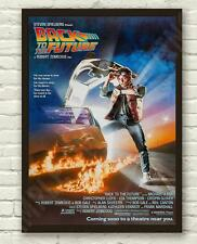 Classic 80's Back To The Future McFly Movie Film Poster Print Picture A3 A4