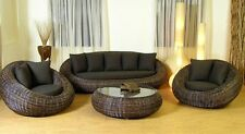 KIWI HANDMADE RATTAN WICKER LIVING SET UNIQUE DESIGN TROPICAL STYLE