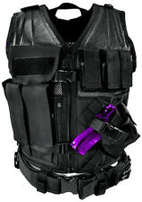 NcSTAR Tactical PVC Vest Military Special Forces Swat Police Hunting **BLACK**