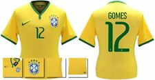 *14 / 15 - NIKE ; BRAZIL PLAYER ISSUE HOME SHIRT SS / GOMES 12 = SIZE*
