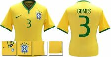 *14 / 15 - NIKE ; BRAZIL PLAYER ISSUE HOME SHIRT SS / GOMES 3 = SIZE*