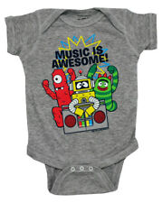 Yo Gabba Gabba Cast Music Is Awesome Cartoon Baby Creeper Romper Snapsuit
