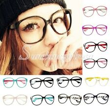 Fashion Korean Candy Color Frame Clear Lens Oversize Shade Sunglasses Hot Sell