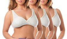 E25N 3 PAIRS PULL ON NURSING BRA WITH PADS FIT 14-16 16-18 B-DD