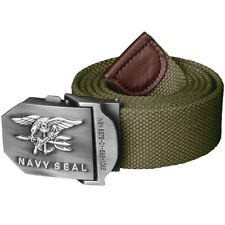 HELIKON NAVY SEAL COMBAT WEBBING ARMY MILITARY MENS STYLE US BELT COTTON OLIVE