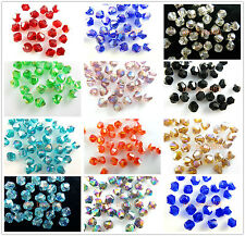 Wholesale Lots 200pcs Glass Crystal Faceted Bicone Loose Spacer Beads 4mm