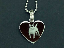 Personalised Photo/Text EngravedHeart Necklace Pendant STAFFODSHIRE BULL TERRIER