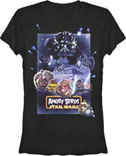 Angry Birds Star Wars Poster Juniors Babydoll Video Game T-Shirt Tee