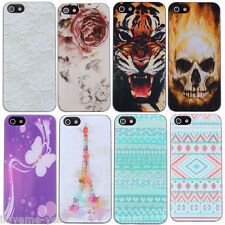 Slim Various Painted Pattern Hard PC Case Cover Skin Back for Apple IPhone 5 5S