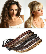 Women Girls Synthetic Hair Plaited Headband Bohemian Style Hair Band KK