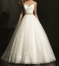 Hot White/Ivory Lace Bridal Gown Wedding Dress Custom Size: 6 8 10 12 14 16 18++
