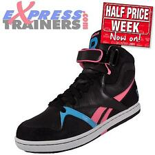Reebok Womens Girls Court Romance Hi Top Trainers Black * AUTHENTIC *
