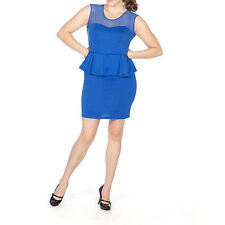 Concepts Womens Sleeveless Peplum Dress w/ Mesh Inset, S, M or L, Choose Color