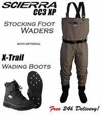 Scierra - CC3 XP Stocking Foot Breathable Chest Fishing Waders All Sizes SALE