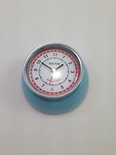 Retro magnetic kitchen clock 1950's shabby chic blue or cream diner pinup
