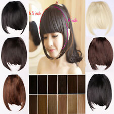 Modern girl sexy Clip On Clip In Front Bang Fringe Hair Extension Straight piece