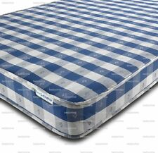 NEW BUDGET MATTRESS CHEQUERED FREE UK DELIVERY