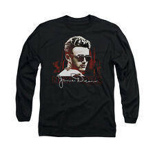 James Dean Icon Movie Actor New York Shades Adult Long Sleeve T-Shirt Tee