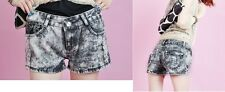 Ladies Women Vintage Low Waist Lace Hot pants Denim Shorts Jeans