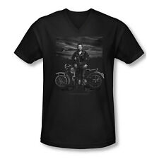 James Dean Icon Movie Actor Rebel Rider Adult V-Neck T-Shirt Tee