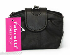 Fabretti Collection Women's Soft GENUINE REAL LEATHER Coin Purse Wallet