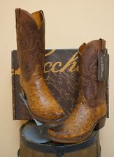 MENS LUCCHESE COWBOY BOOTS! 1883 COLLECTION! NIB-OSTRICH! N1062.74! WIDE WIDTHS