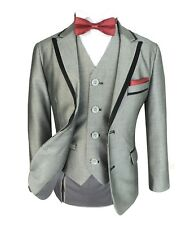 NEW BOYS GREY 3PC PAGE BOY SUIT WEDDING, PARTY, DINNER, PROM, SUIT BY ROMANO