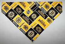 NHL Boston Bruins Dog Bandana Scarf - Slide over Collar - Size Small to XLarge