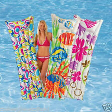 LARGE INFLATABLE SUN LOUNGERS SWIM POOL FASHION LOUNGER LILO AIR MAT BED SUN BED