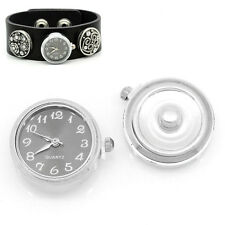 "Wholesale Lots Watch Face Snap Click Buttons Snap Black 25mmx21mm(1""x7/8"")"