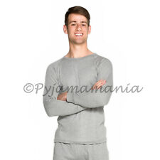 Mens Cotton Thermal Underwear Long Sleeve Top Grey sizes S-XXL