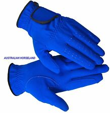 Horse Riding Gloves - Micro Suede - Blue