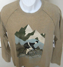 GAP Men's Tan Bicycle Graphic Long Sleeve Tee Shirt Sizes S-M-L