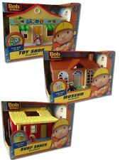 Bob The Builder Playsets - TOY SHOP, MUSEUM, SURF SHACK With FIGURES NEW
