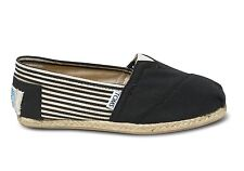 TOMS University Rope Sole Black Women Classics All Sizes Available Brand NIB