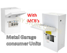 CED Axiom Consumer Unit Moulded Garage & Shower (With MCB) 63A 1 & 2 Way IP