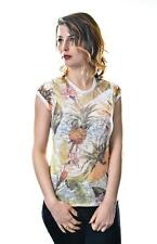 Pineapple, Flowers Full Print Womens %100 Cotton T-Shirt S M L Sizes Available
