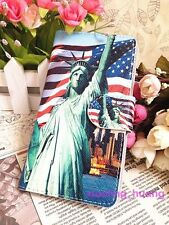 USA Famous Statue of Liberty wallet slot flip Case cover for iPhone/iPod/Samsung